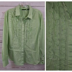 New York & Co Blouse Button Down Shirt A38